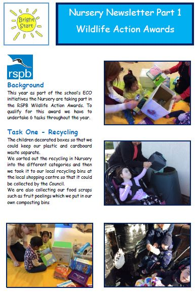nursery newsletter